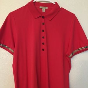 💯✅ Authentic Burberry Womens Polo Shirt